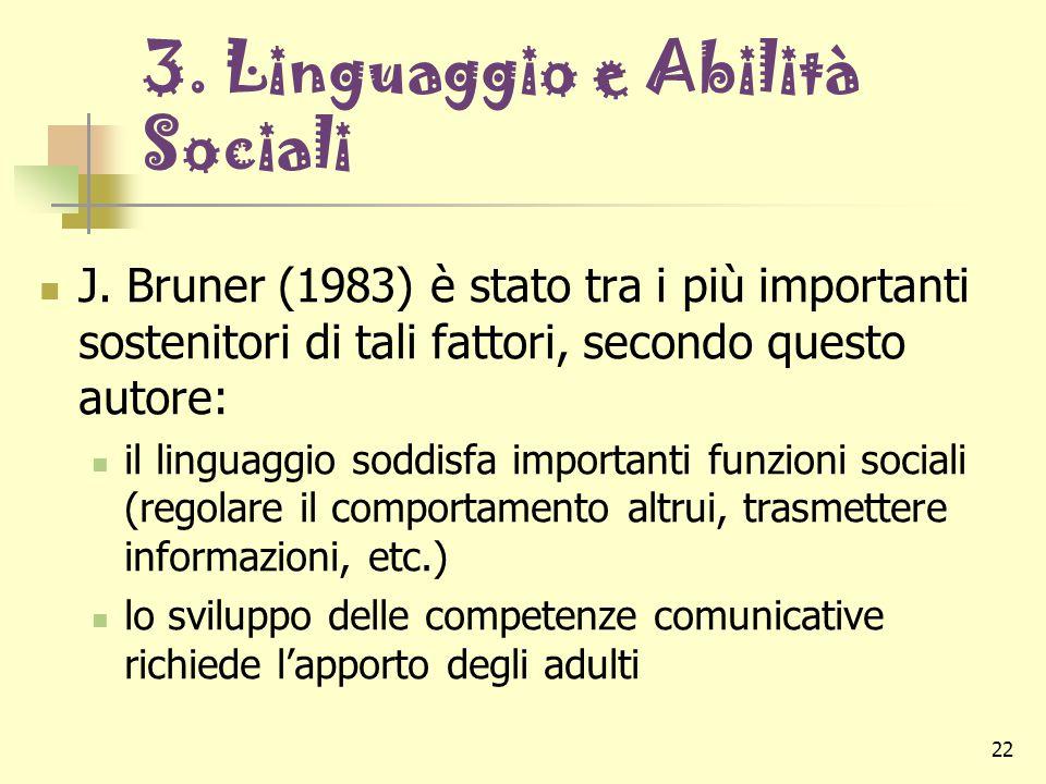 3. Linguaggio e Abilità Sociali