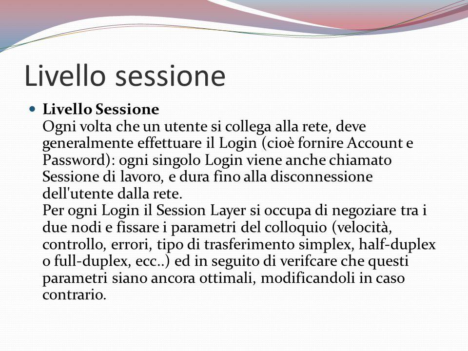 Livello sessione