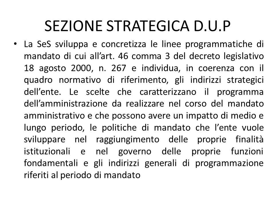 SEZIONE STRATEGICA D.U.P