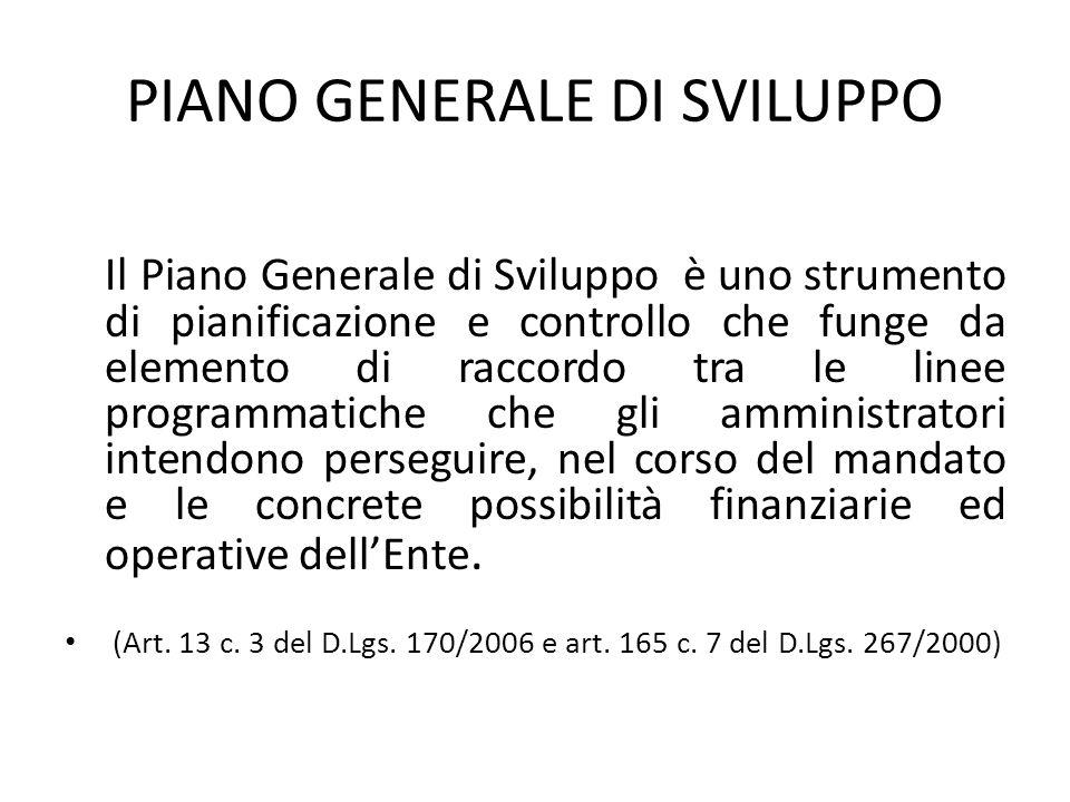 PIANO GENERALE DI SVILUPPO