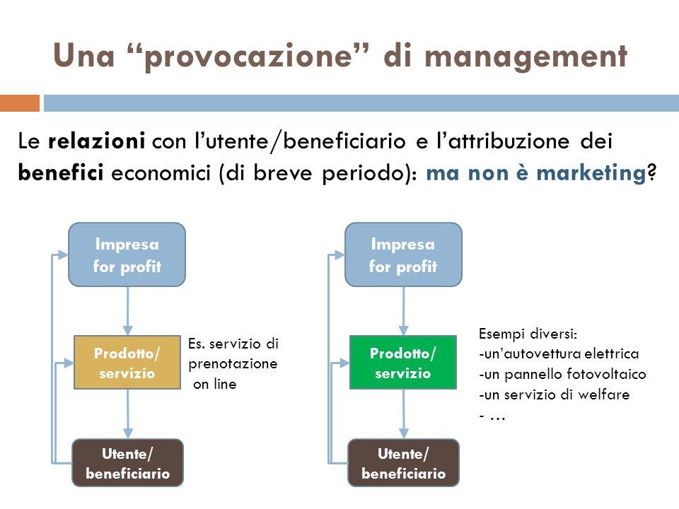 Una provocazione di management