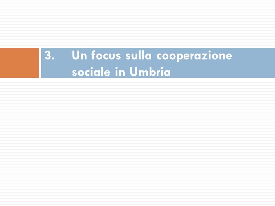 3. Un focus sulla cooperazione sociale in Umbria