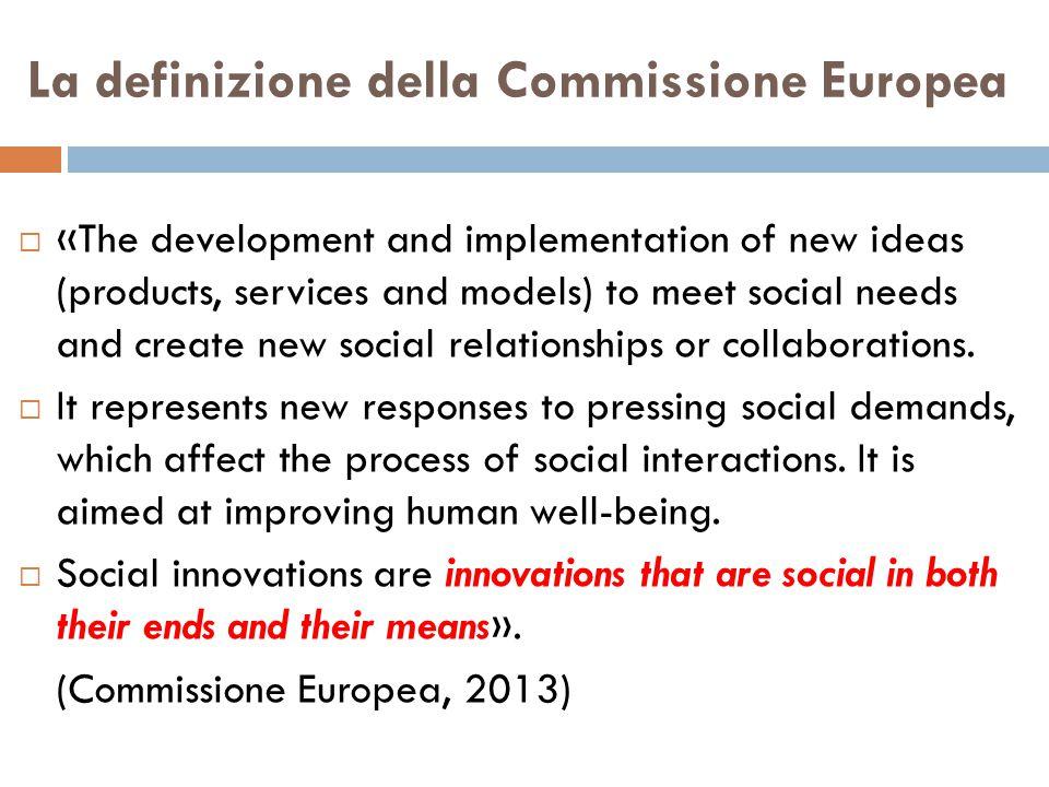 La definizione della Commissione Europea