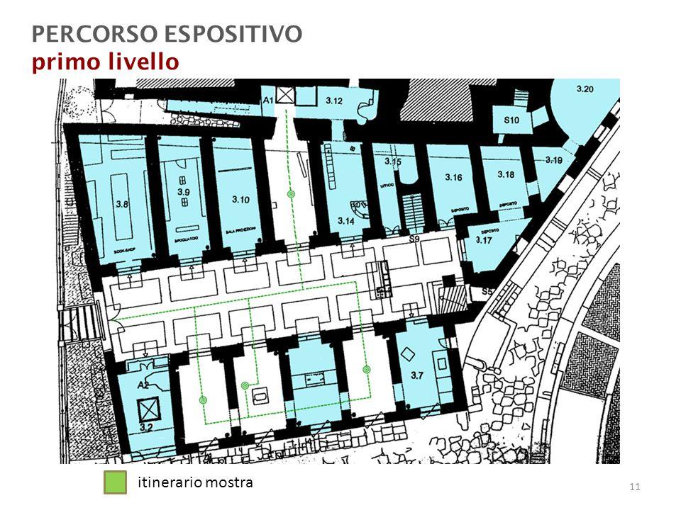 PERCORSO ESPOSITIVO primo livello itinerario mostra