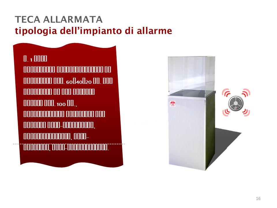 tipologia dell'impianto di allarme