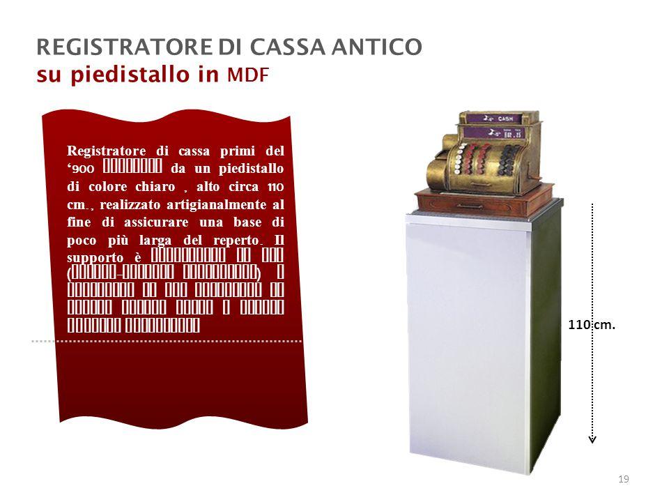 REGISTRATORE DI CASSA ANTICO su piedistallo in MDF
