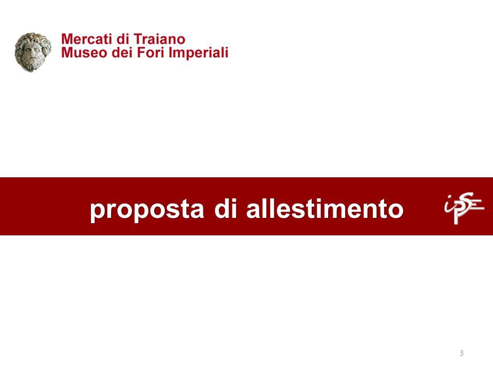 proposta di allestimento