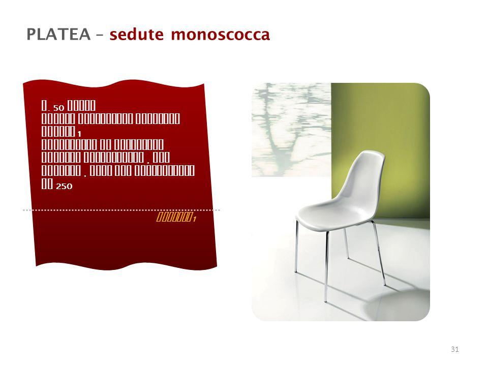 PLATEA – sedute monoscocca