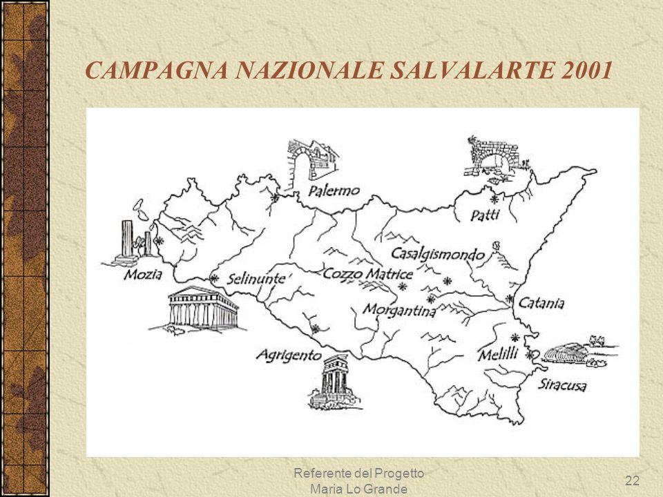 CAMPAGNA NAZIONALE SALVALARTE 2001