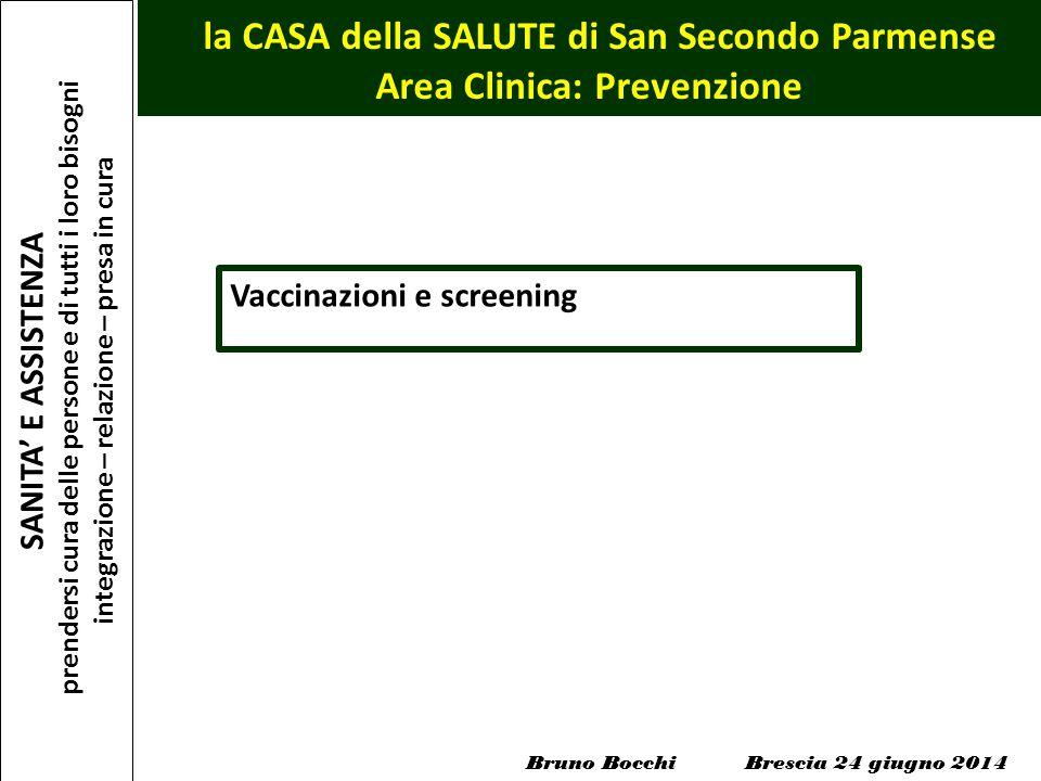 la CASA della SALUTE di San Secondo Parmense Area Clinica: Prevenzione