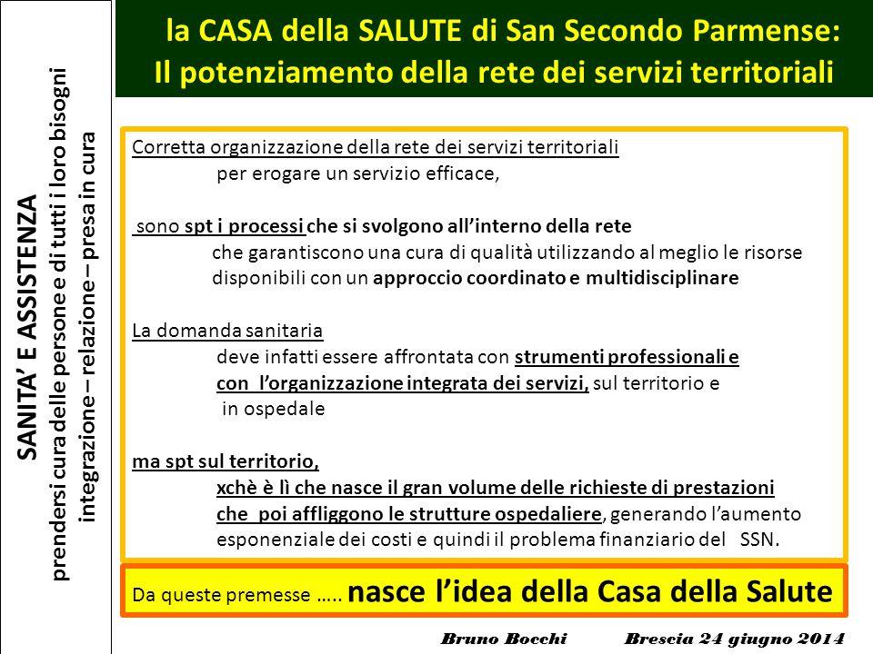la CASA della SALUTE di San Secondo Parmense: