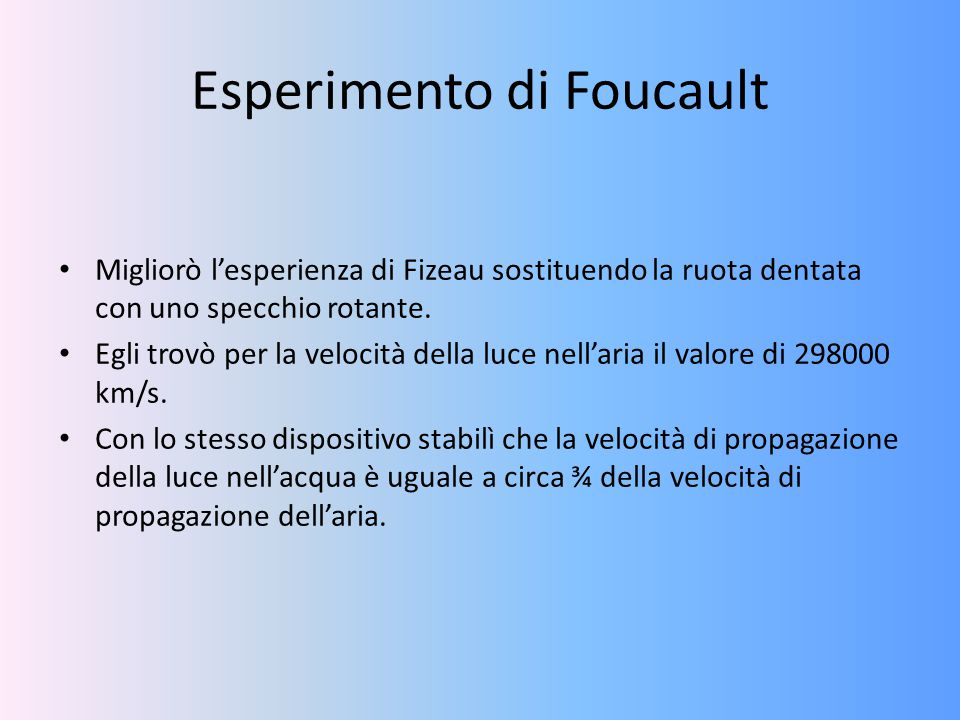 Esperimento di Foucault