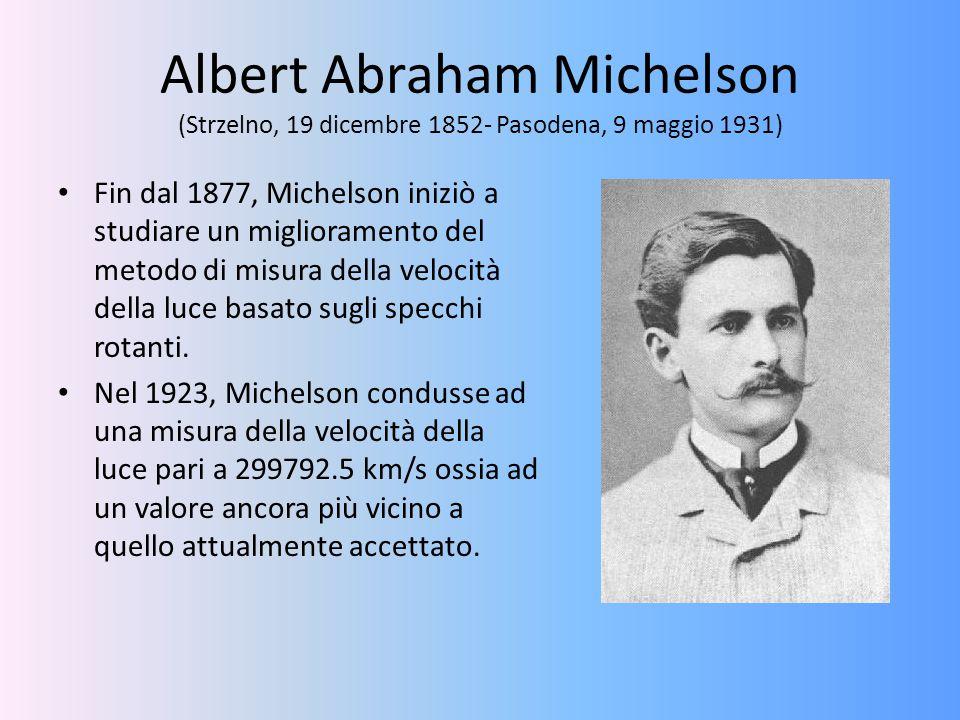Albert Abraham Michelson (Strzelno, 19 dicembre 1852- Pasodena, 9 maggio 1931)