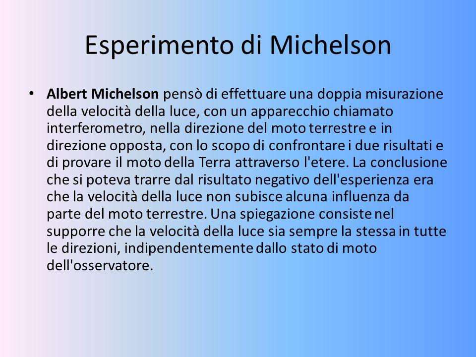 Esperimento di Michelson