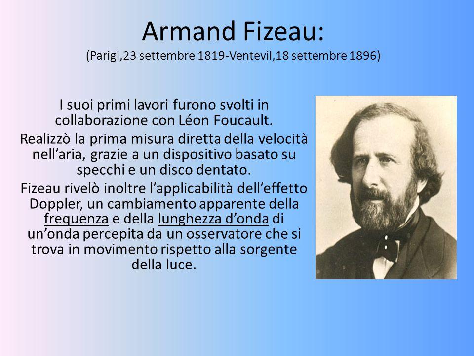 Armand Fizeau: (Parigi,23 settembre 1819-Ventevil,18 settembre 1896)