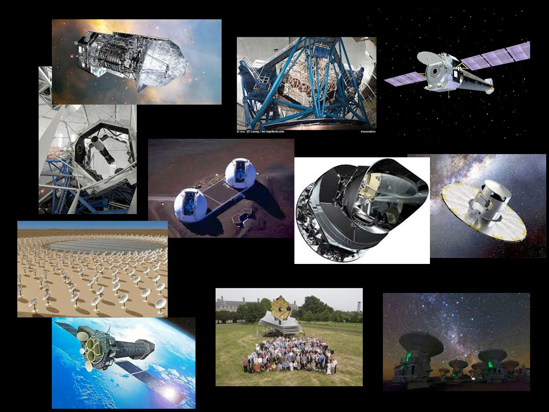 Questi sono alcuni esempi di telescopi attualmente operanti: chandra, james webb telescope, alma,ska (in futuro), keck,...
