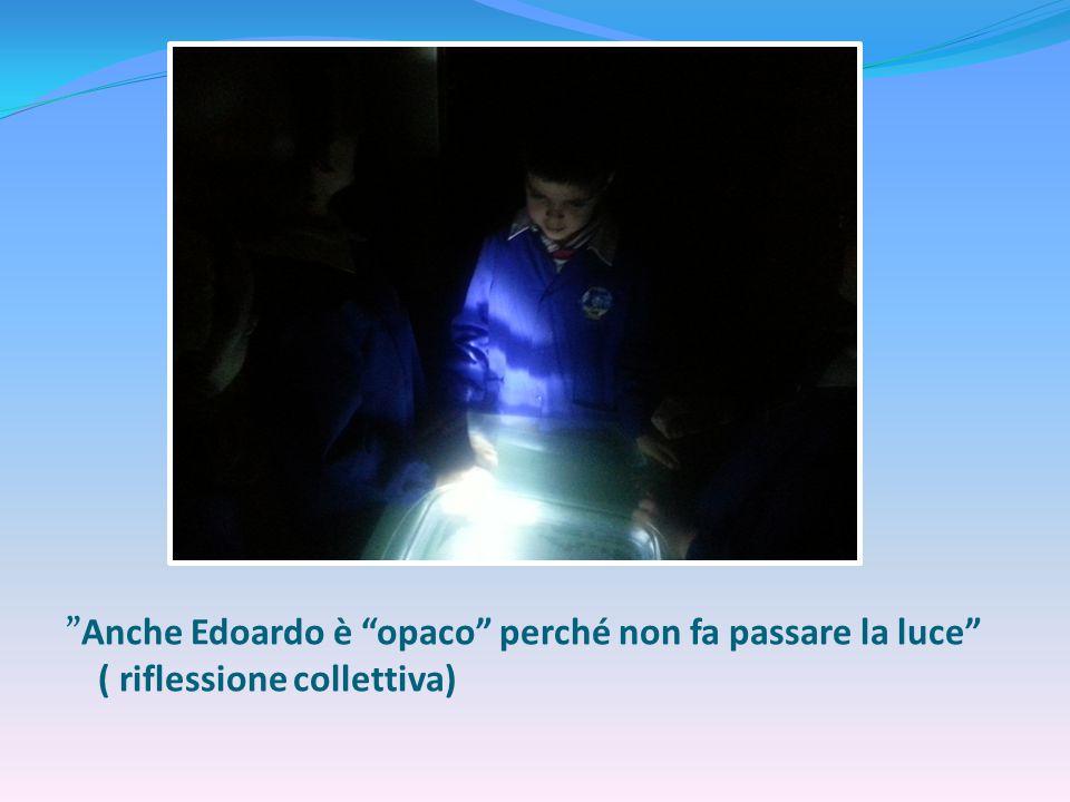 Anche Edoardo è opaco perché non fa passare la luce ( riflessione collettiva)