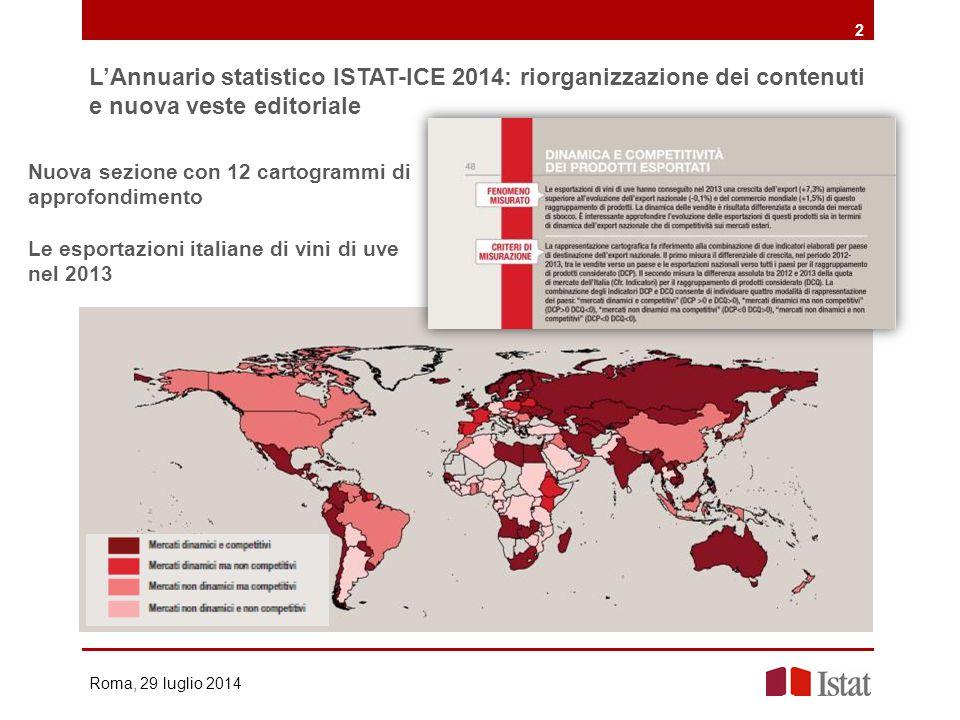 L'Annuario statistico ISTAT-ICE 2014: riorganizzazione dei contenuti e nuova veste editoriale