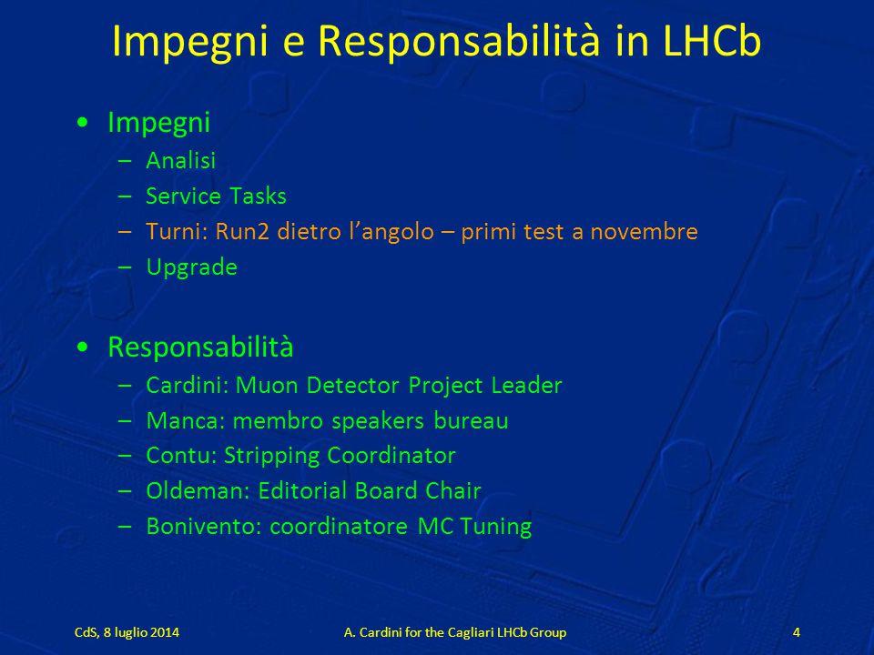 Impegni e Responsabilità in LHCb