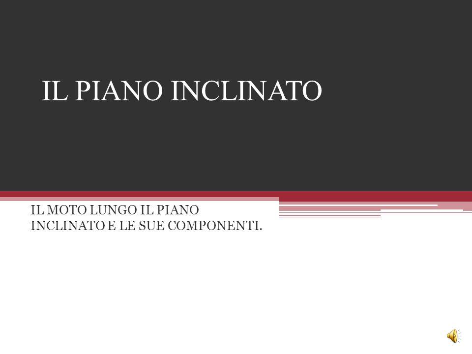 IL MOTO LUNGO IL PIANO INCLINATO E LE SUE COMPONENTI.