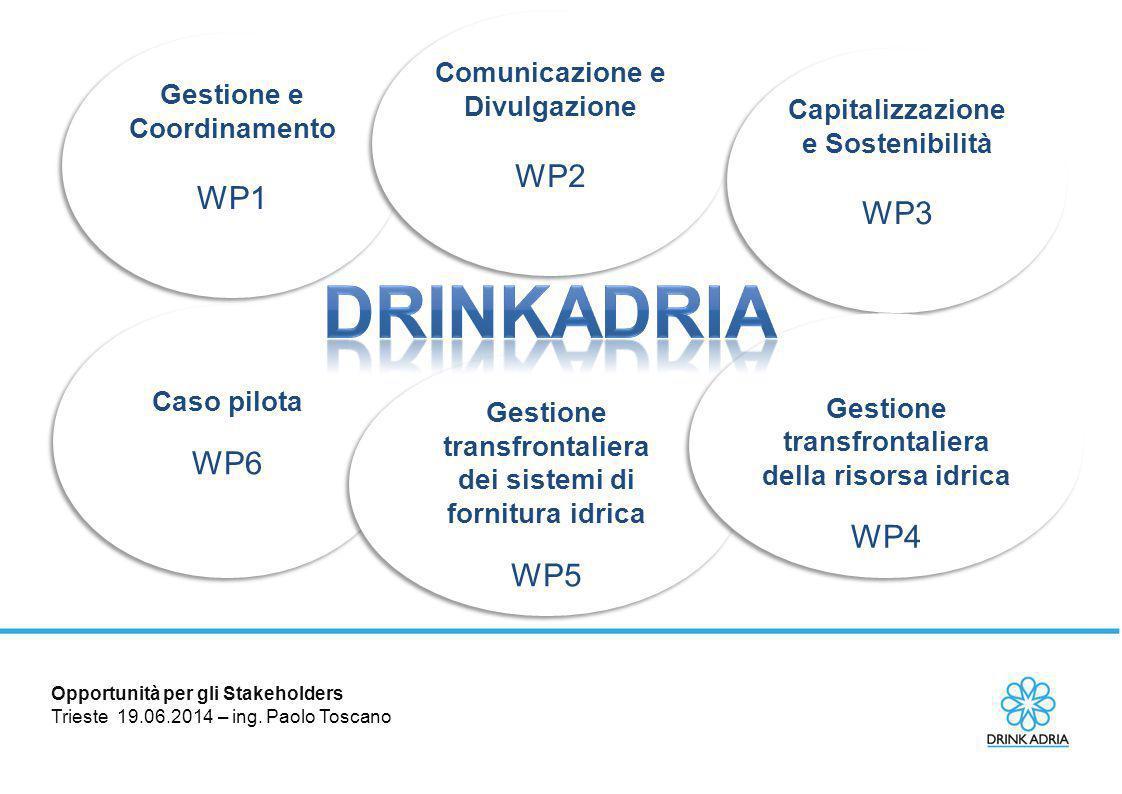 DRINKADRIA WP2 WP1 WP3 WP6 WP4 WP5 Comunicazione e Divulgazione