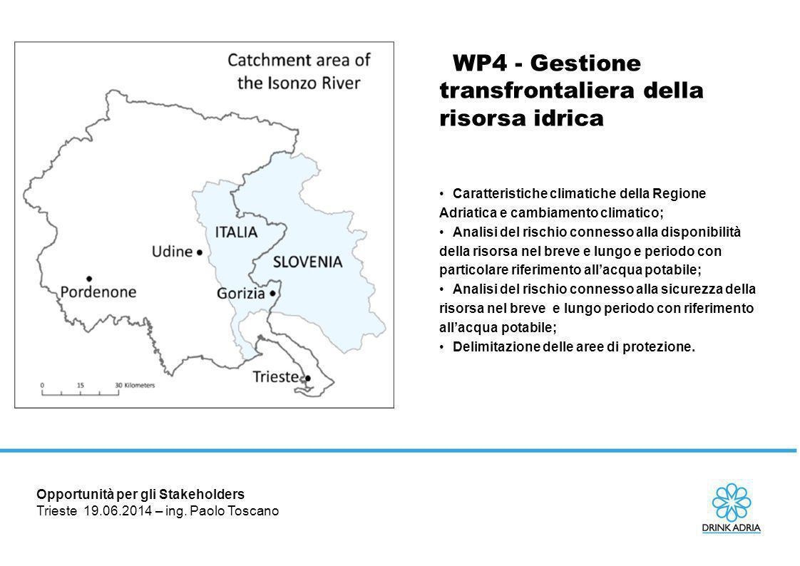 WP4 - Gestione transfrontaliera della risorsa idrica