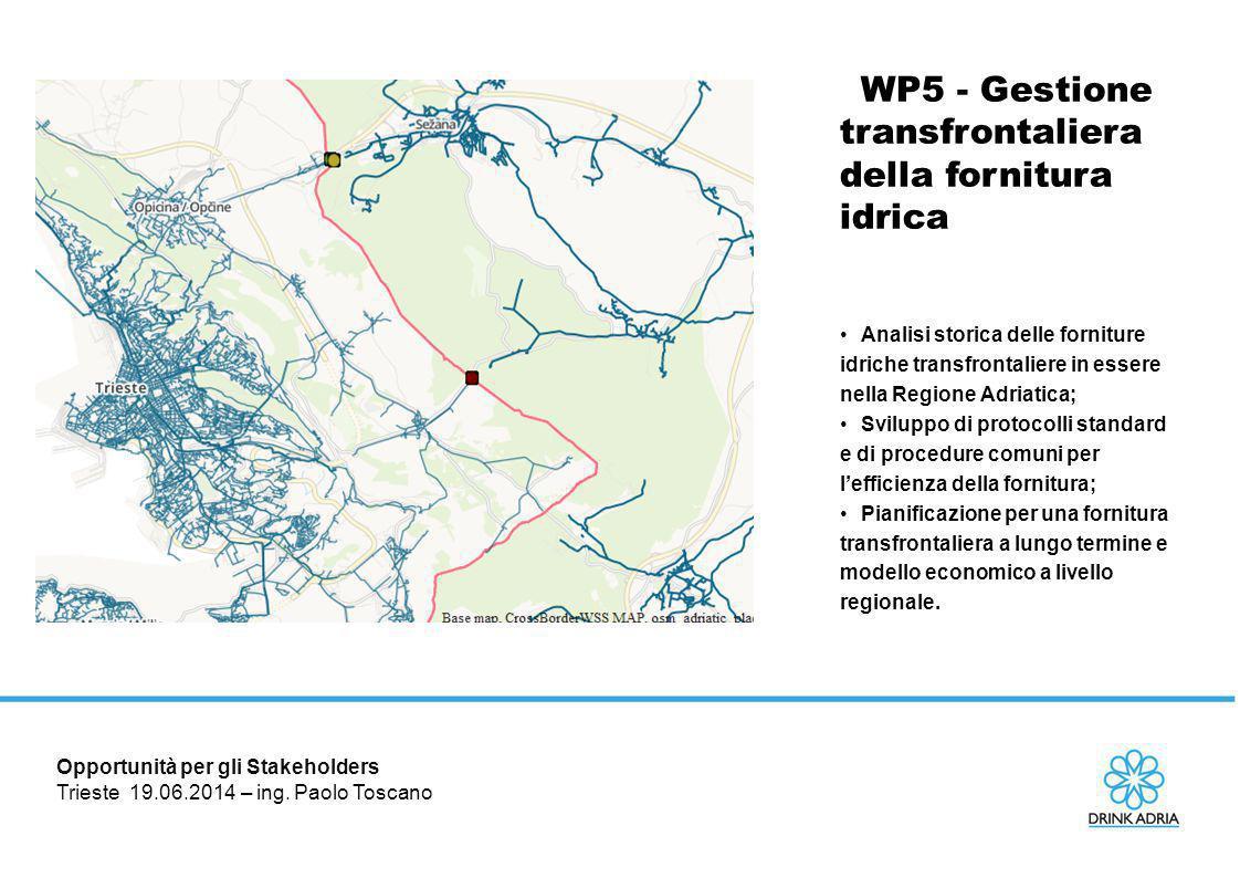 WP5 - Gestione transfrontaliera della fornitura idrica