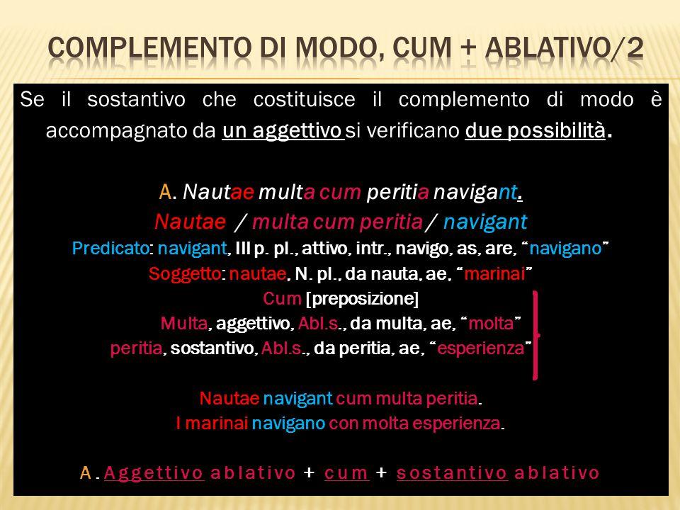 Complemento di modo, cum + ablativo/2