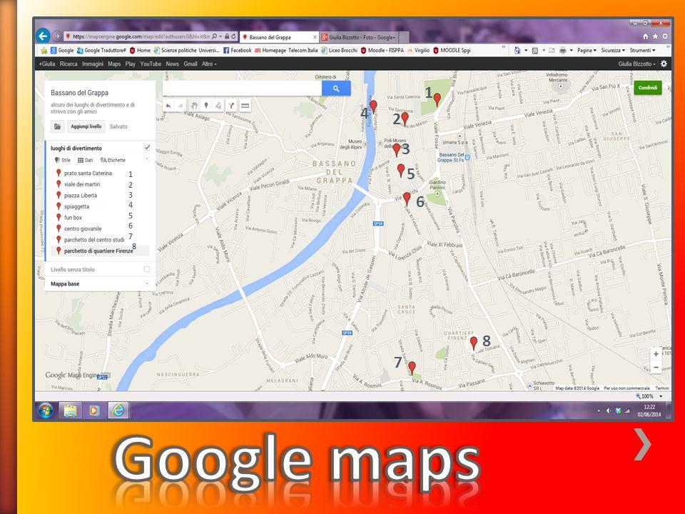 1 4 2 3 5 1 2 3 4 5 6 7 8 6 8 7 Google maps