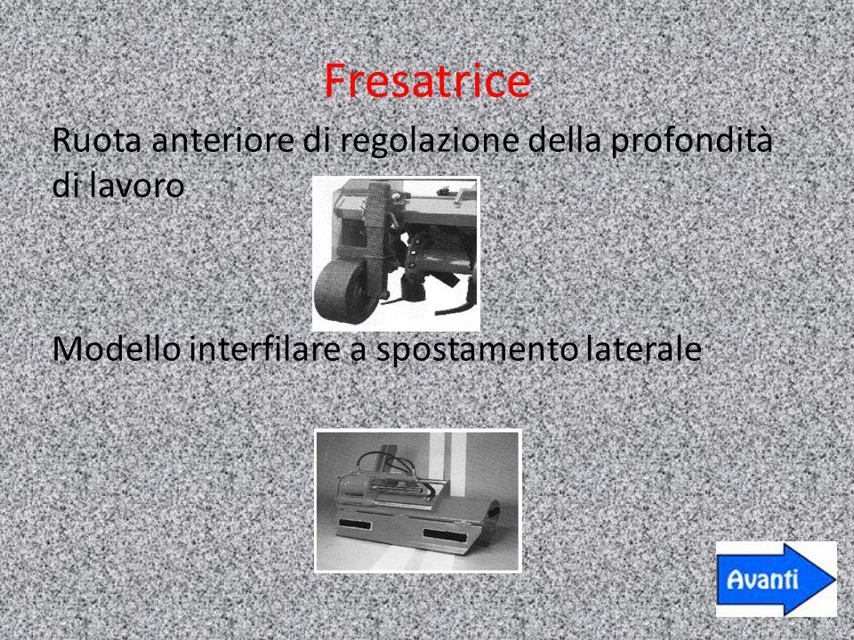 Fresatrice Ruota anteriore di regolazione della profondità di lavoro Modello interfilare a spostamento laterale