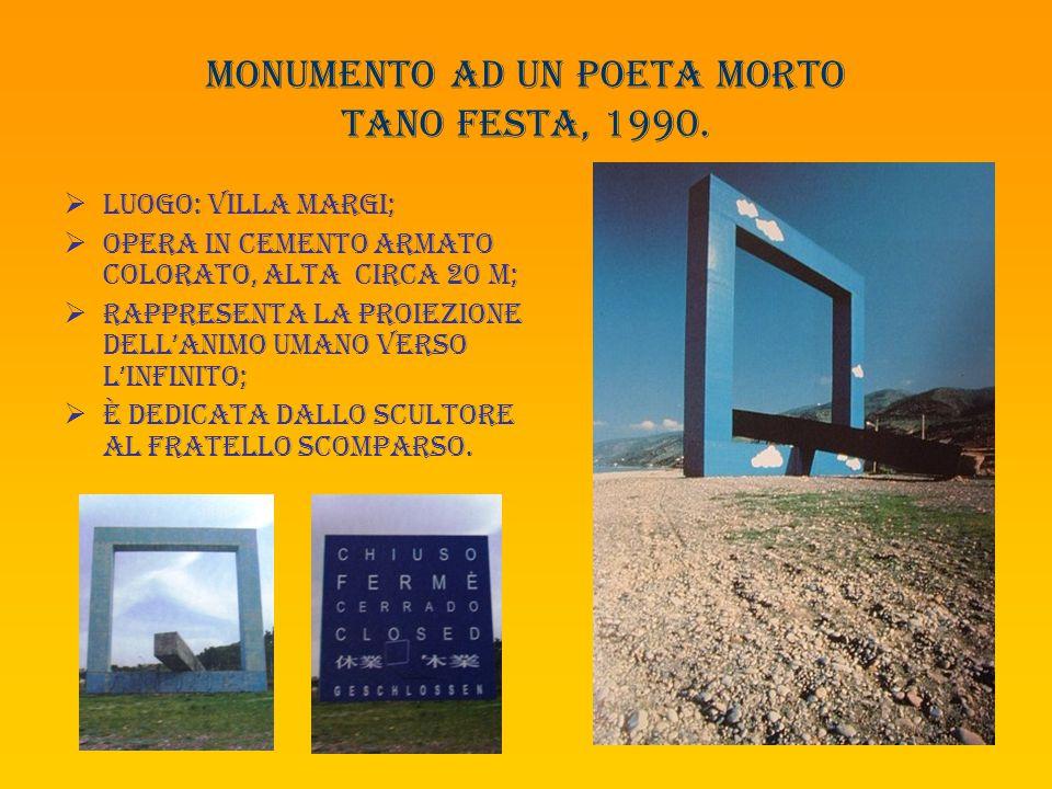 Monumento ad un poeta morto tano festa, 1990.