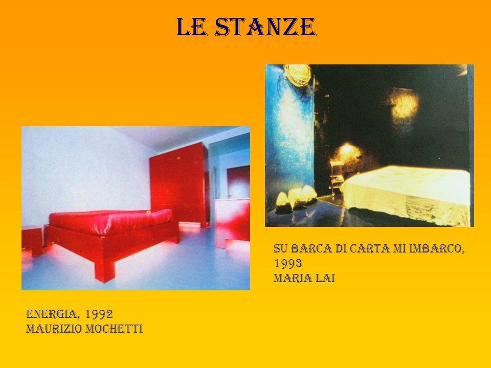 Le stanze Su barca di carta mi imbarco, 1993 Maria lai Energia, 1992