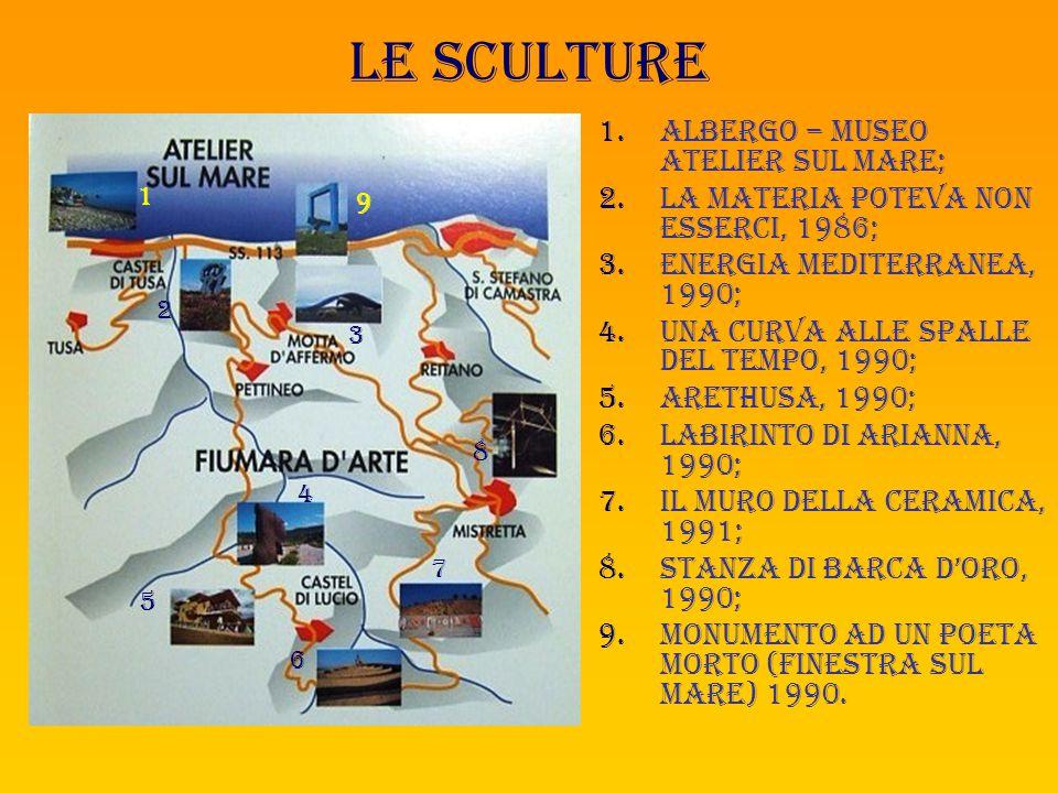 Le sculture ALBERGO – MUSEO ATELIER SUL MARE;
