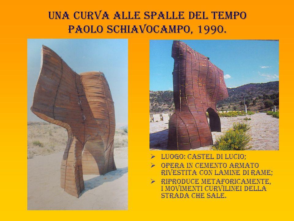 Una curva alle spalle del tempo paolo schiavocampo, 1990.