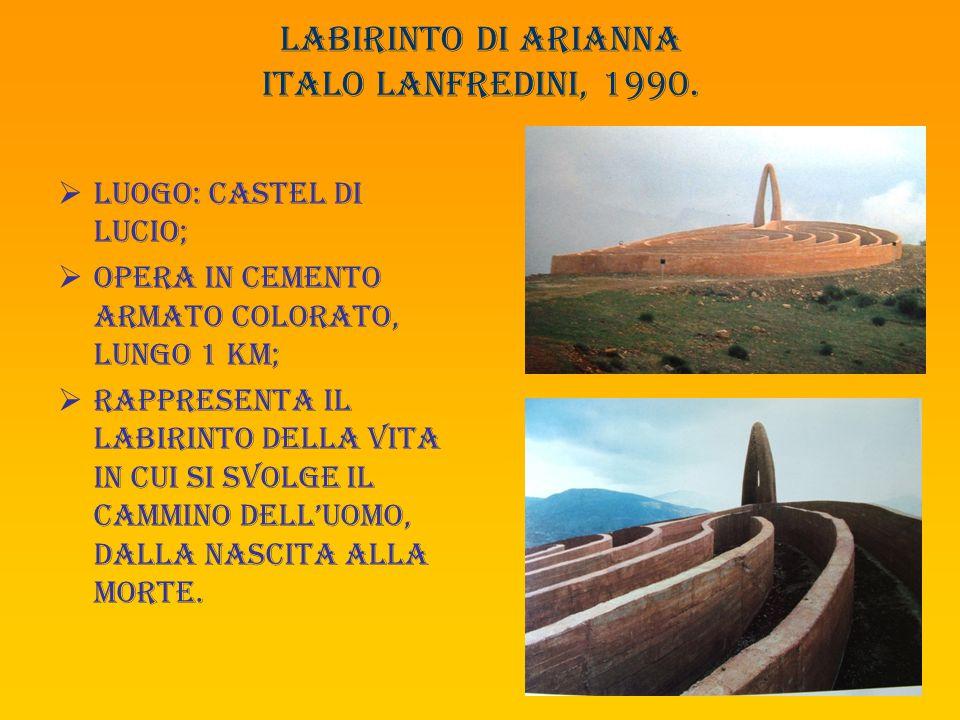 Labirinto di arianna italo lanfredini, 1990.