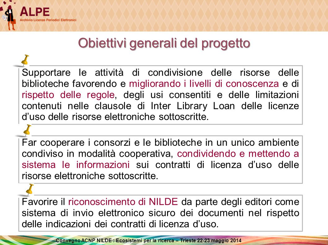 Obiettivi generali del progetto