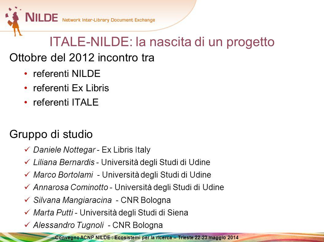 ITALE-NILDE: la nascita di un progetto