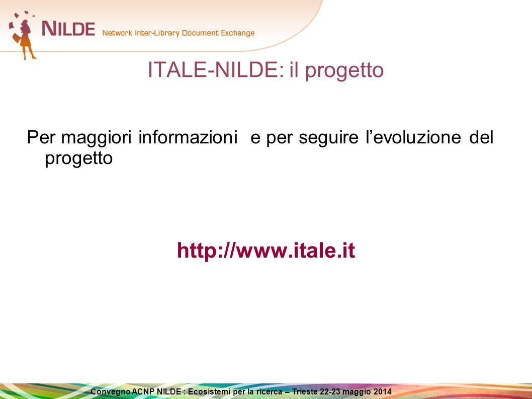 ITALE-NILDE: il progetto
