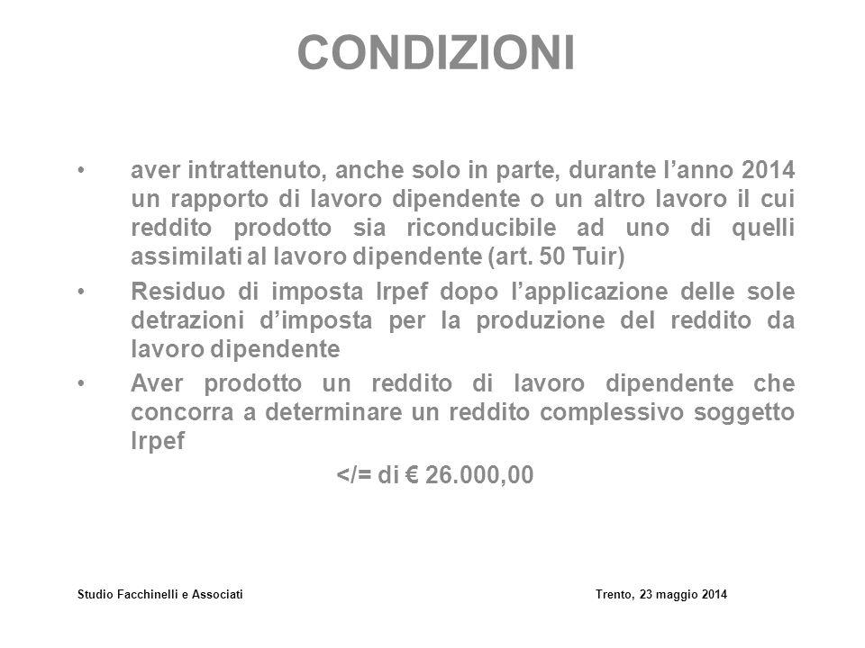 Studio Facchinelli e Associati Trento, 23 maggio 2014