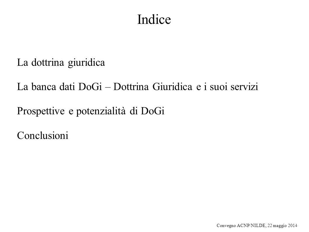 Indice La dottrina giuridica