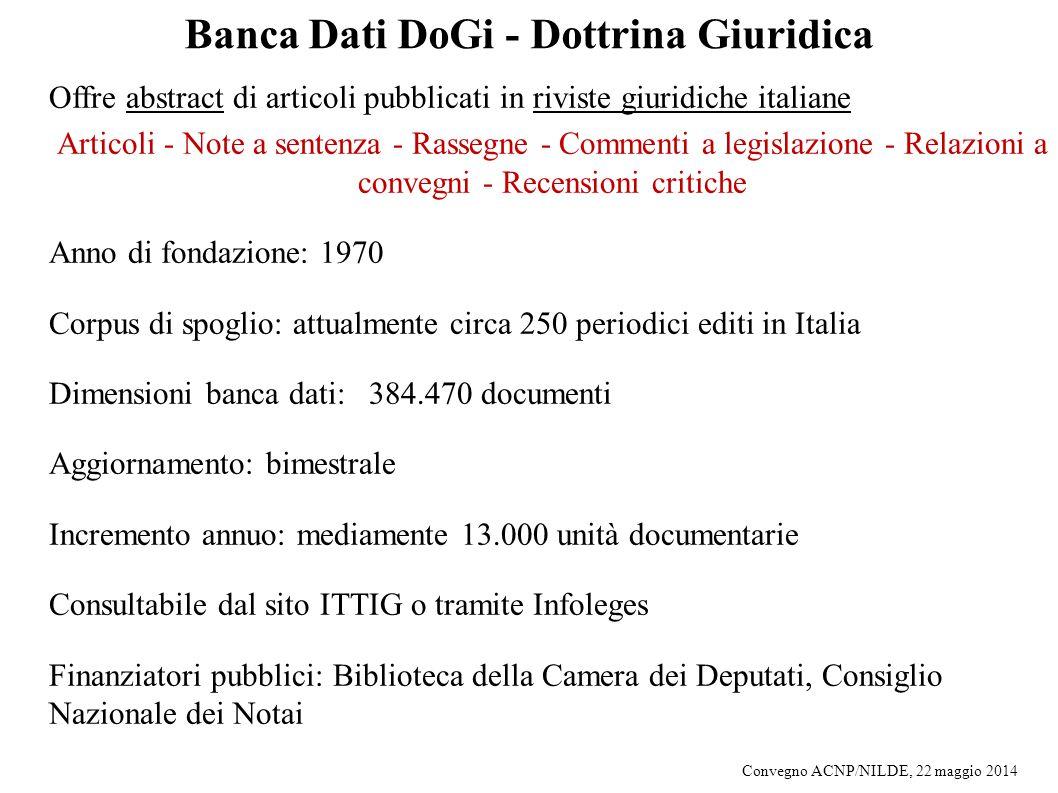 Banca Dati DoGi - Dottrina Giuridica