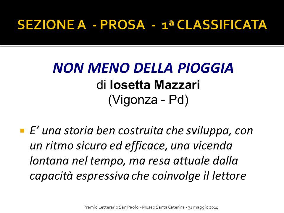 SEZIONE A - PROSA - 1ª CLASSIFICATA