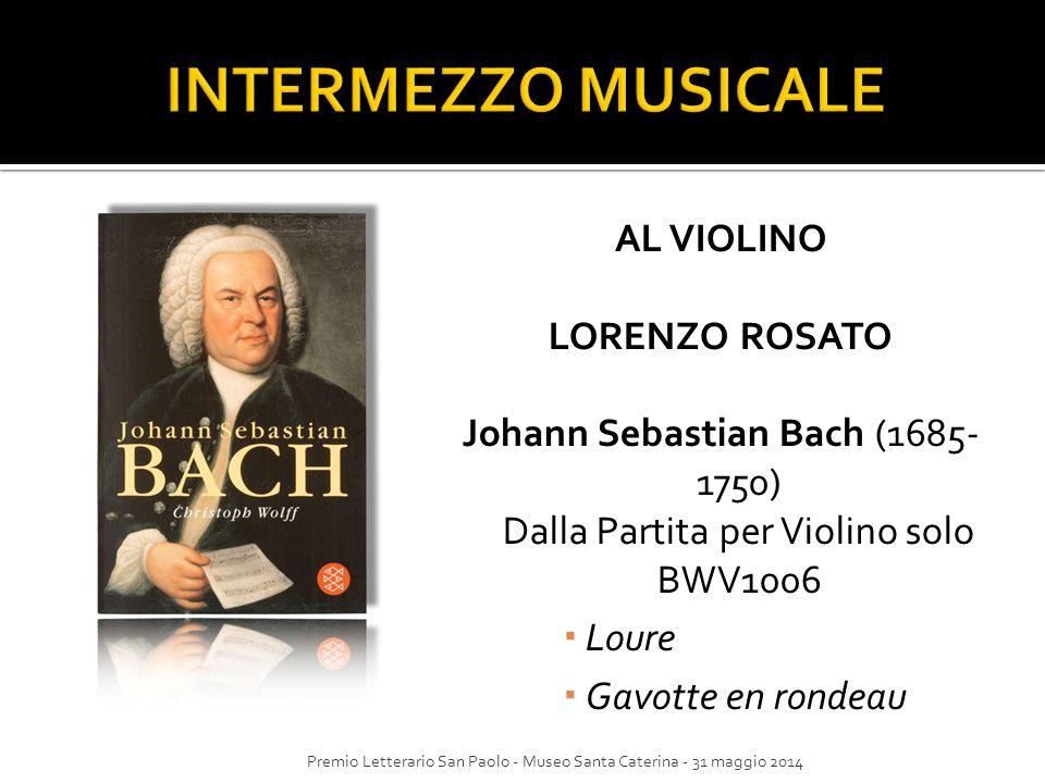 INTERMEZZO MUSICALE AL VIOLINO LORENZO ROSATO