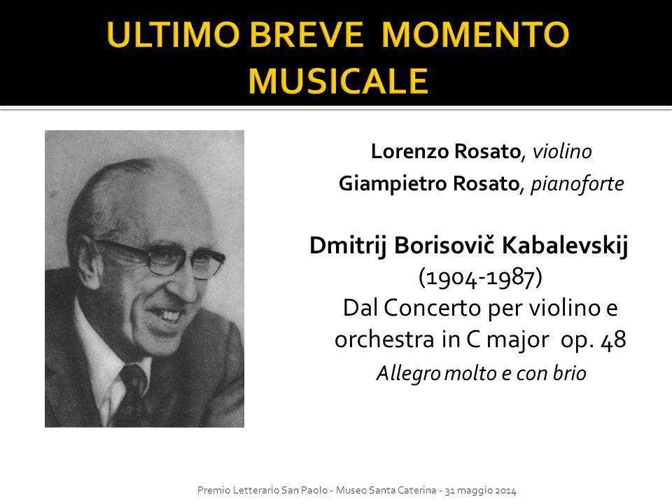 ULTIMO BREVE MOMENTO MUSICALE