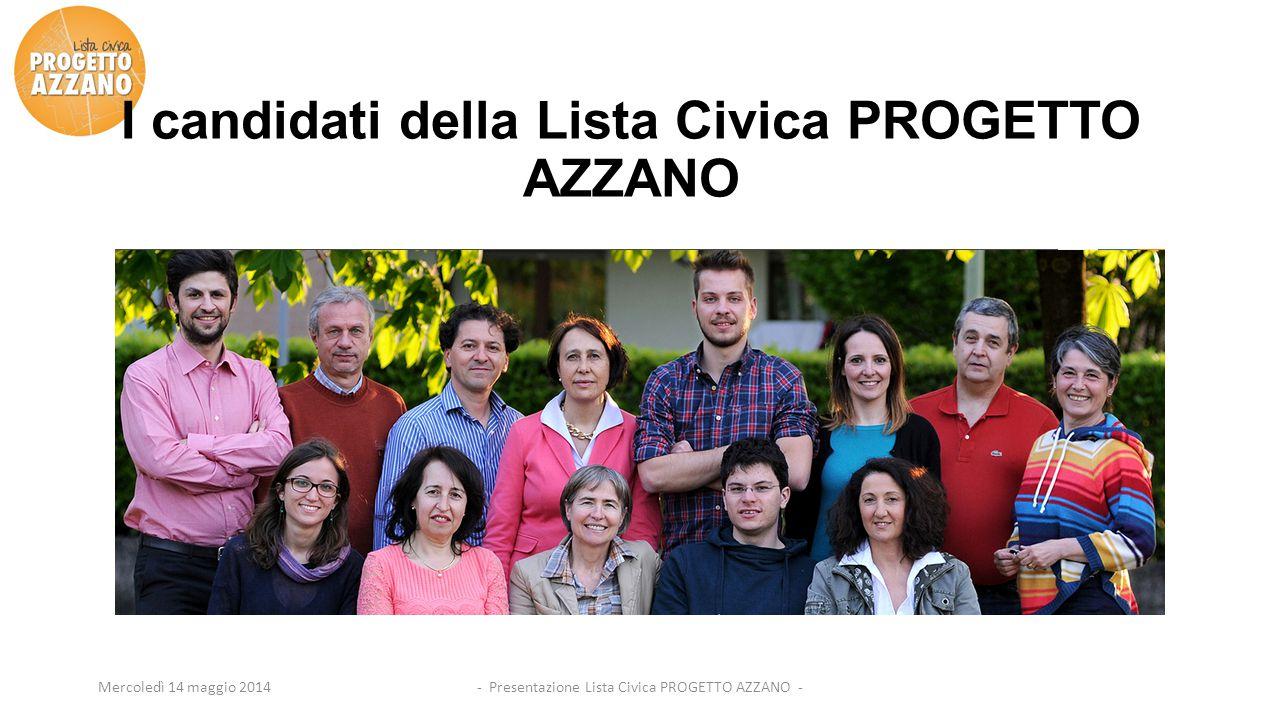 I candidati della Lista Civica PROGETTO AZZANO