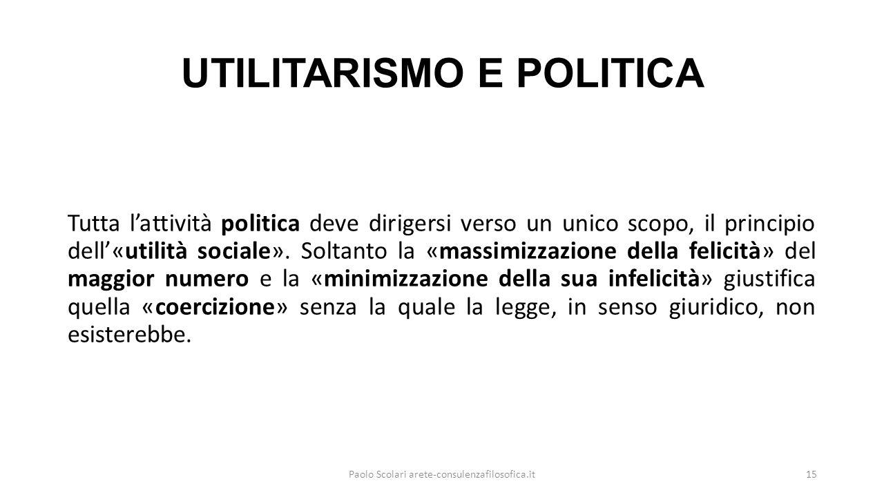 UTILITARISMO E POLITICA