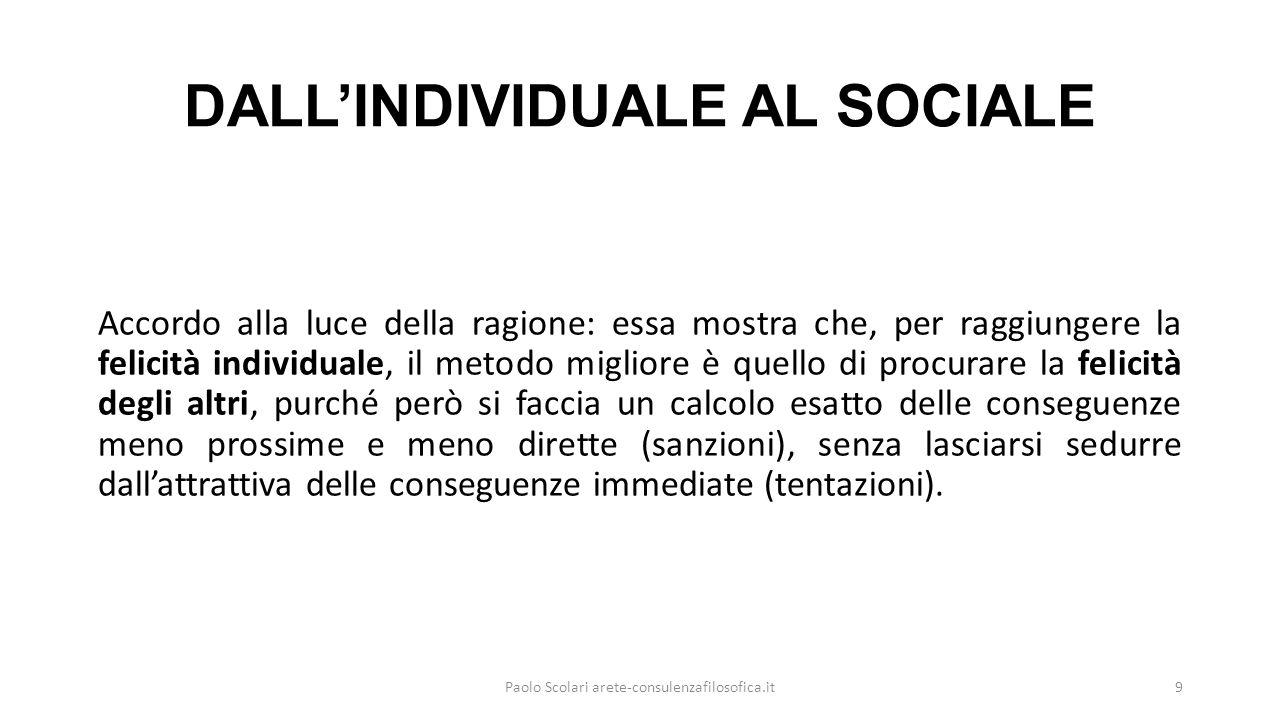DALL'INDIVIDUALE AL SOCIALE