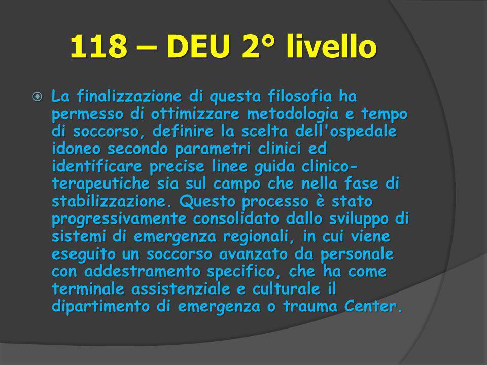 118 – DEU 2° livello