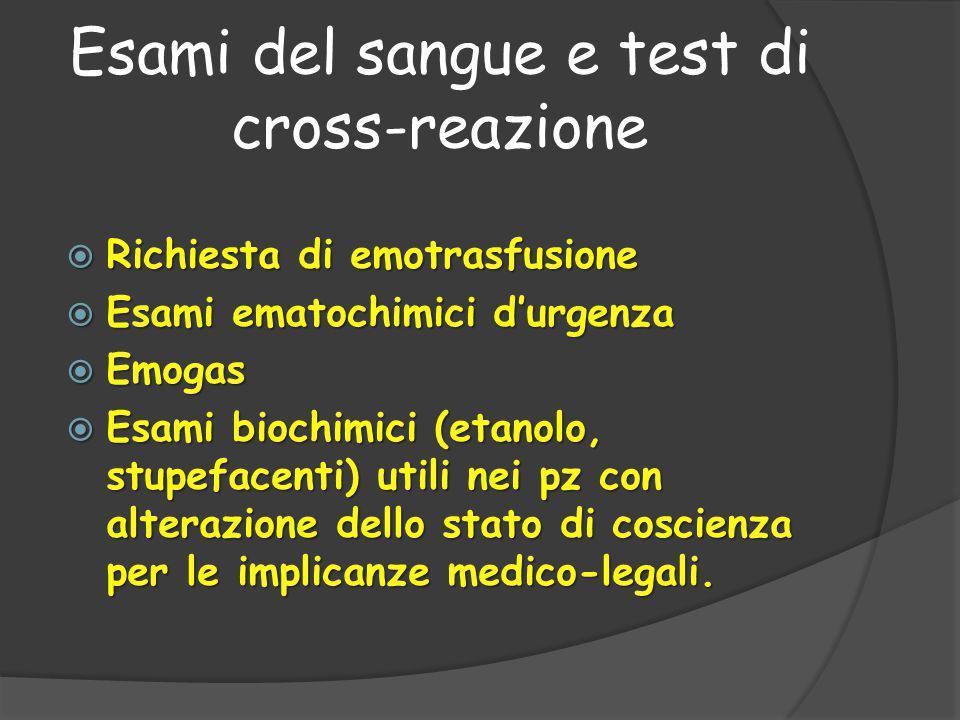 Esami del sangue e test di cross-reazione