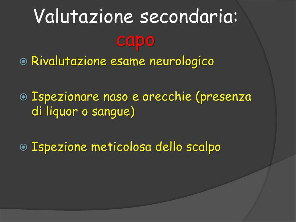 Valutazione secondaria: capo